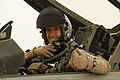 U.S. Air Force Col. Brook Leonard, the commander of the 451st Expeditionary Operations Group, gives a thumbs-up in an F-16 Fighting Falcon aircraft before a mission over Afghanistan at Kandahar Airfield 120805-F-VN552-018.jpg