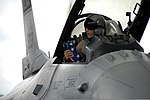 U.S. Air Force Maj. Stephen Kaminski, an F-16 Fighting Falcon aircraft pilot with the 157th Fighter Squadron, returns to McEntire Joint National Guard Base, S.C., Aug. 22, 2012, after a four-month air 120822-F-WT236-108.jpg