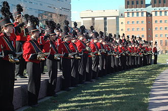 University of Cincinnati Bearcat Bands - Pre-game performance at Sigma Sigma Commons