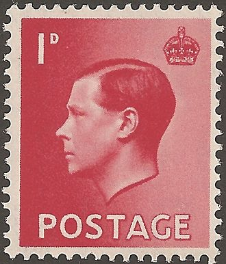 Edward VIII postage stamps - One of four 1936 stamps.