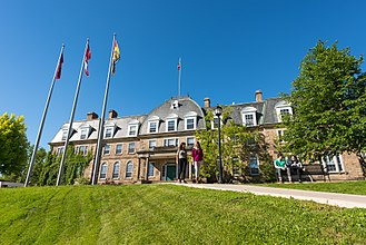 Sir Howard Douglas Hall at the University of New Brunswick is the oldest university building still in use in Canada. UNB Old Arts Building.jpg