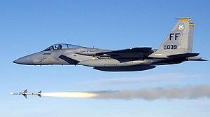 Intake ramp - Image: USAF F 15C fires AIM 7 Sparrow 2