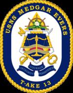 USNS Medgar Evers T-AKE-13 Crest