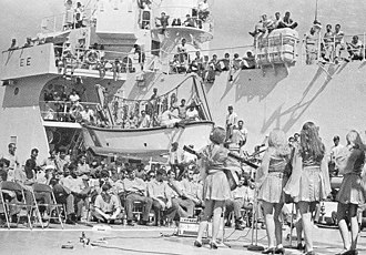 United Service Organizations - US Coast Guard, 1st show in Vietnam, 1970
