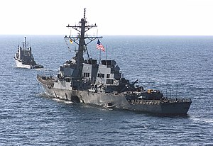 USS Cole bombing - Image: USS Cole (DDG 67) Departs