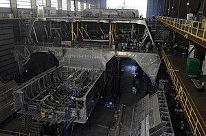 Independence-class littoral combat ship - Image: USS Independence (LCS 2) building
