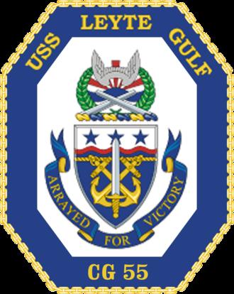 USS Leyte Gulf - Image: USS Leyte Gulf CG 55 Crest