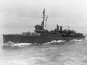 USS McKean (DD-90) - McKean off Guadalcanal on 7 August 1942.