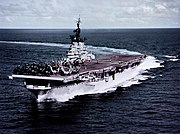 USS Philippine Sea (CVA-47) underway at sea on 9 July 1955 (80-G-K-18429)