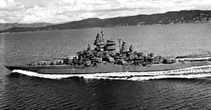 USS Tennessee (BB-43) - Tennessee after 1943 modernization