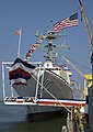 USS Truxtun (DDG 103) during the christening ceremony.jpg