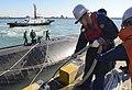 USS Tucson arrives at Busan Naval Base. (10824744596).jpg