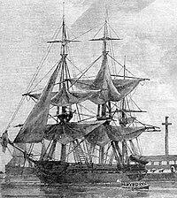 USS Vandalia (1828) sketch