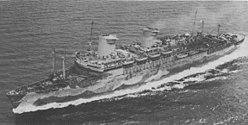 USS West Point (AP-23) underway at sea, circa in 1943 (80-G-71251).jpg