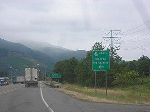 Washington State Route 7 - Image: US 12 at SR 7 in Morton, WA