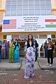 US Army 52664 Zahra Azadin, 14, stands in front of her new school in the Bnaslawa district of Erbil, Iraq, Sept. 29. Zahra is one of 1,600 female students who began attending the school.jpg