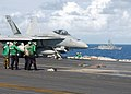 US Navy 030114-N-4965F-512 An F-A-18 prepares for catapult launch.jpg