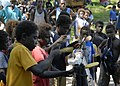 US Navy 070822-N-4267W-065 Children in Sasamunga perform on homemade instruments during the arrival of the Secretary of the Navy (SECNAV) the Honorable Dr. Donald C. Winter.jpg