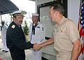 US Navy 081104-N-2821G-004 Argentine Navy Rear Adm. Jose Luis Perez Varela greets Rear Adm. Joseph D. Kernan.jpg