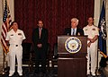 US Navy 100414-N-9671T-132 Sen. Christopher Dodd delivers remarks during a commemoration reception to recognize the bicentennial of the War of 1812.jpg