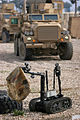US Navy 110215-N-9946J-009 An explosive ordnance disposal remote-controlled robot is used during a training mission.jpg