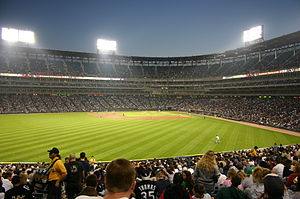 Guaranteed Rate Field - Guaranteed Rate Field (then U.S. Cellular Field) in 2004 with the new roof and lighting