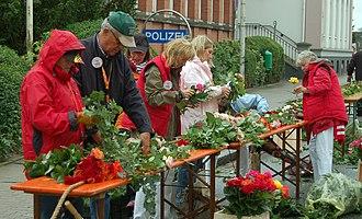 Floral design - Image: Uetersen Rosengirlande 05