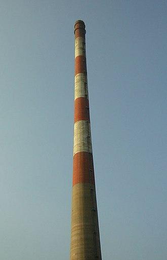 Ugljevik Power Plant - Flue gas stack of the Ugljevik Power Plant