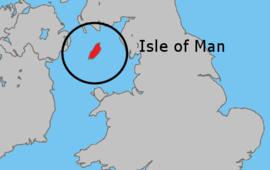 Localização da Ilha de Man