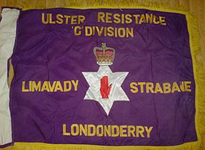 Ulster Resistance - Ulster Resistance Flag 'C' Division, bearing the Red Hand of Ulster emblem