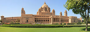 Umaid Bhawan Palace - A panoramic view of Umaid Bhawan Palace in 2015