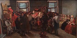 Brit milah - Jewish circumcision in Venice around 1780 Musée d'Art et d'Histoire du Judaïsme