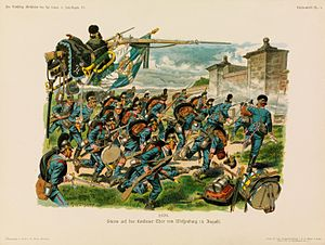 Battle of Wissembourg (1870) - The 5th Royal Bavarian Regiment at the battle of Wissembourg, 1870.