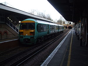 South London line - A Southern train at Denmark Hill