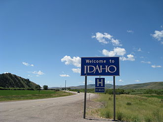 U.S. Route 89 - US 89 heading north along the Idaho/Wyoming state line
