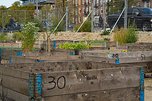 English: A small urban agriculture project in ...