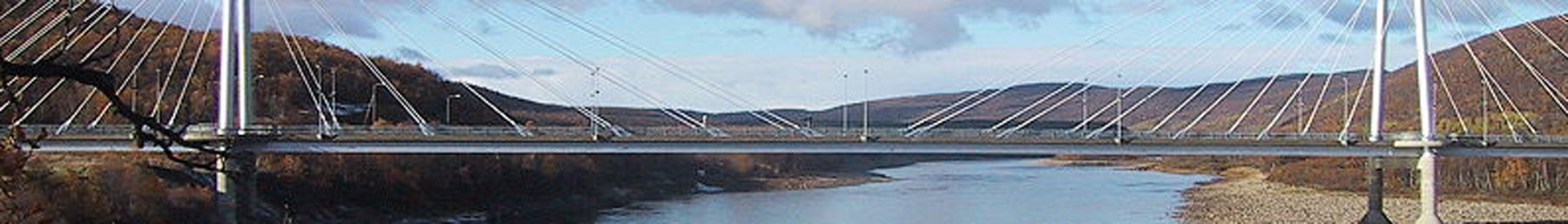 Sami bridge at the Finnish–Norwegian border