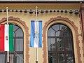 Városháza, zászlók, 2018 Pesterzsébet.jpg