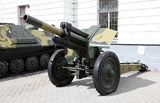 122 mm howitzer M1938 (M-30) - M-30 in VDV history museum, Russia.