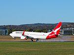 VH-VXA landing at Canberra Airport March 2013.jpg