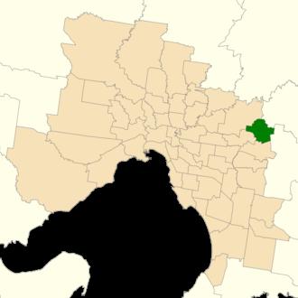 Electoral district of Croydon (Victoria) - Location of Croydon (dark green) in Greater Melbourne