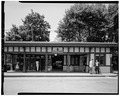 VIEW WEST, OF OUTBOUND STATION - Scarsdale Railroad Station, East Parkway, Scarsdale, Westchester County, NY HABS NY,60-SCARD,3-3.tif