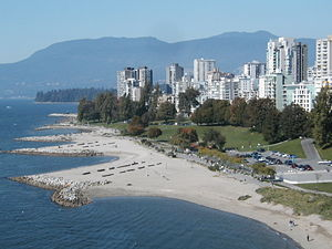 West End, Vancouver - View of West End along the Vancouver coast and Beach Avenue
