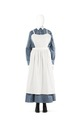 Vardagsklänning för husjungfrun, blus och kjol i ljusblått bomullstyg s.k. skötersketyg - Hallwylska museet - 89138.tif