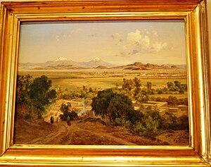 """English: """"Valle de México desde las lomas..."""