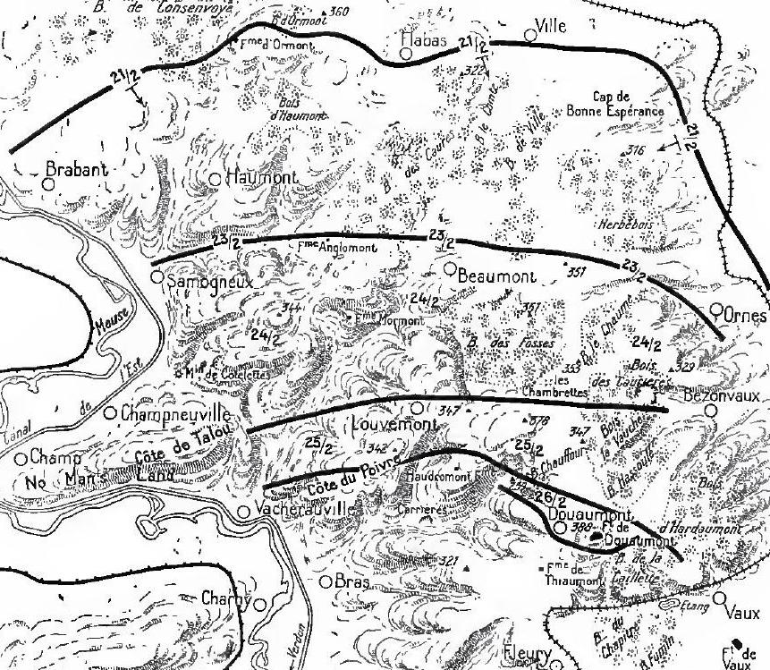 Verdun, east bank, 21-26 February 1916