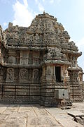 Vesara style shrine and superstructure in Lakshmi Narasimha temple at Nuggehalli.JPG