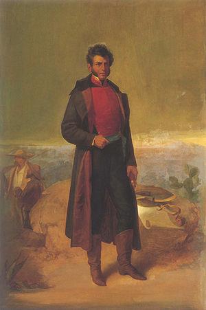 Agustín de Iturbide - Posthumous portrait of Vicente Guerrero by Ramón Sagredo (circa 1865).