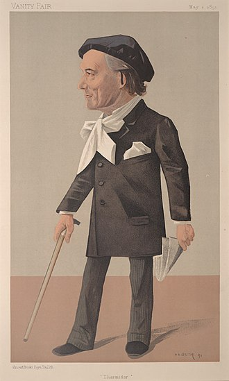 Victorien Sardou - Caricature by Jean B. Guth, published in Vanity Fair (1891)