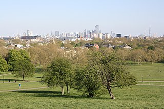 Primrose Hill Park in north-west London